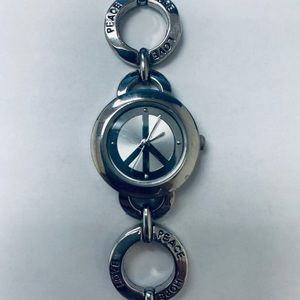 Accessories - Peace Sign Steel Watch